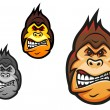 Angry monkey mascot — Stockvectorbeeld