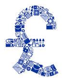 Simbolo di valuta britannica — Vettoriale Stock