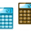 Calculator icons — Stock Vector