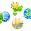 Royalty-Free Stock Vector Image: Ecology and environment icons