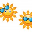 Funny sun in sunglasses — Stock Vector