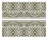 在花卉风格复古饰品 — 图库矢量图片