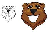 Beaver mascot — Stock Vector