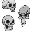 Royalty-Free Stock Vector Image: Set of skulls