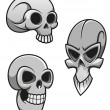 Stock Vector: Set of skulls