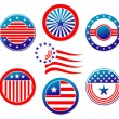 American national banners and symbols — Stock Vector