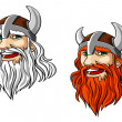 Viking warrior mascot — Stock Vector