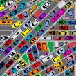Traffic congestion on roads - Stock Vector