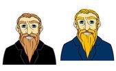 Senior man with beard — Stock Vector