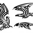 Tribal eagle, hawk and falcon — Stock Vector