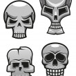 Stock Vector: Set of monster skull mascots