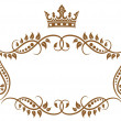 Elegant royal medieval frame with crown — Stock Vector #25899833