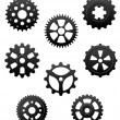 Pinions and gears set — Stock Vector