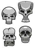 Set of monster skull mascots — Stock Vector