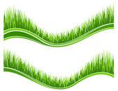 две волны зеленой травы — Cтоковый вектор