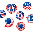 USA and american symbols — Stock Vector