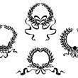 Stock Vector: Royal laurel wreaths