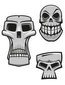 Monster and zombie skulls — Stock Vector
