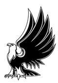Majestic eagle mascot — Stock Vector