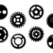 Set of gears and pinions — Stock Vector