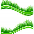 Waves of fresh spring green grass — Stockvectorbeeld