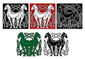 Celtic hästar — Stockvektor