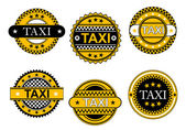 Taxi service emblems and signs — Stock Vector