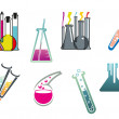 Laboratory and test tubes set — Stock Vector #26854277