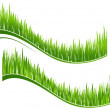 Two waves of green grass — Stock Vector #27173699