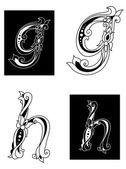 H y g floral letras — Vector de stock