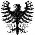 Black heraldic eagle — Stock Vector #27795291