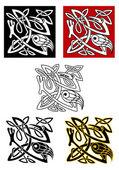 Okrasné ptactvo v keltského stylu — Stock vektor