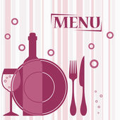 Purple background for cafe menu design — Stock Vector