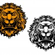 Angry lion head — Vector de stock