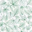 Seamless pattern of green leaves — Stock Vector