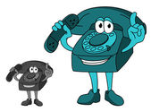 Teléfono de la historieta — Vector de stock