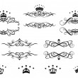 Retro frames set with royal crowns — Stock Vector #28597813