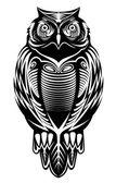 Majestic owl — Stock Vector