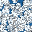 Abstract blue floral seamless pattern — Stock vektor
