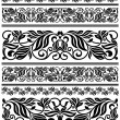 Stock Vector: Floral ornament elements and embellishments