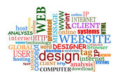 дизайн веб- и интернет теги облако — Cтоковый вектор