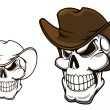 Cowboy skull in hat — Stock Vector