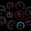 Speedometers set — Stock Vector
