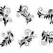 Set of vintage floral elements — Stock Vector #29324885