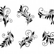 Stock Vector: Set of vintage floral elements