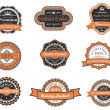 Set of retro premium labels — Stock Vector