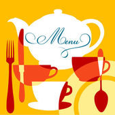 Restaurace menu obal — Stock vektor