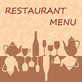 Fondo del menú de restaurante — Vector de stock
