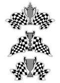 Racing sport emblems — Wektor stockowy
