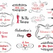 Set of love and Valentine's calligraphic headlines  — Stock Vector